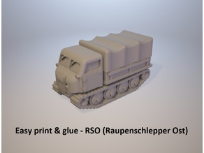 Easy print & glue - RSO (Raupenschlepper Ost)
