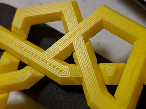 Interlocking rings puzzle, noob printer edition