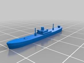 Low-poly Liberty Ship