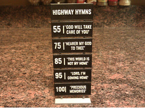 Customizable Miniature Highway Hymns Signs