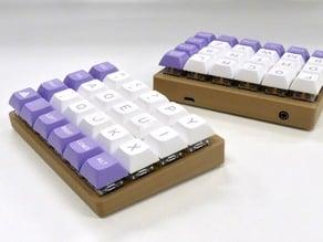 Let's Split Keyboard angled case