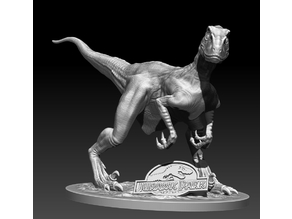 Jurassic Park Velociraptor statue