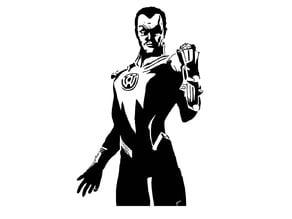 Sinestro stencil