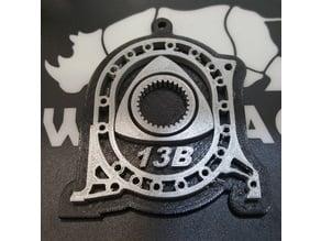 13B Rotary Engine Keychain