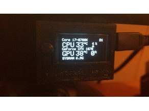 Tiny OLED PC Performance Monitor Gnat-Stats