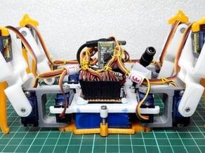 Spider robot(quad robot, quadruped)-SG90