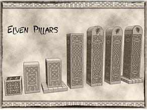 Elven Pillars (x10) for Dungeons & Dragons or Warhammer 40k tabletop Miniatures