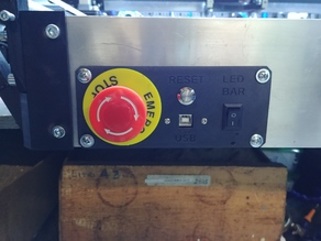 RS-CNC front panel with led control