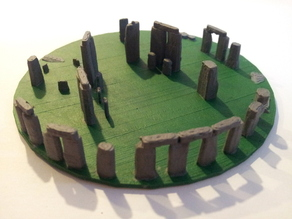 "18"" Stonehenge - Now on a display base, but still in danger of being crushed by a dwarf"