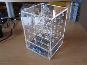 Acrylic case for a 4x4x4 LED-Cube