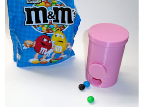 Candy dispenser for large M&M's