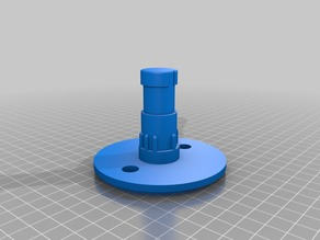 Male part of scotty cup holder, redesigned