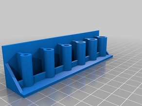 clay modeling tool holder( OpenSCAD Parametric ) With Mounting Holes