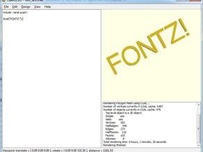 OpenSCAD Font Importer 1.1