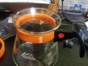 Kalita coffee server 300ml handle's collar