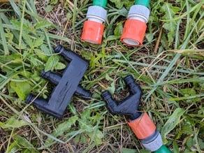 2-way & 3-way Gardena hose divider / splitter