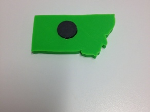 State of Montana Magnet with Heart