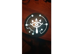 Sheikah Zelda Breath Of The Wild backlit logo