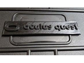 Oculus Quest Logo Apache 3800 Case Tag