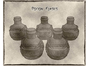 Potion Flasks and Bottles For Dungeons & Dragons, Pathfinder and Other Fantasy Tabletop Games