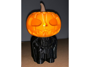 Darth Pumpkin Vader with battery tea light