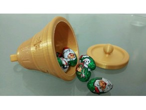 Christmas Bell ornament (with secret compartment)