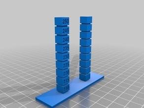 Temperature Tower PETG Stringing 210-250 +5