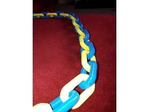 Chunky chain - alternating coloured links