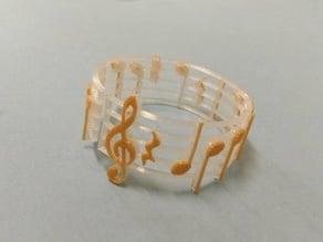 Sheet music bracelet