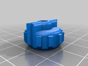 Adusting Knob with Internally Integrated M3 Nut - Fits Bukito,Prusa, and Others.