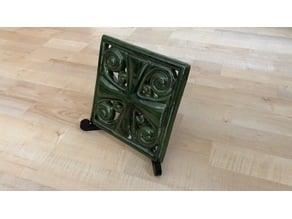 Art nouveau tile/plate stand