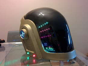 Daft Punk Guy Manuel 3D Printable Wearable Helmet