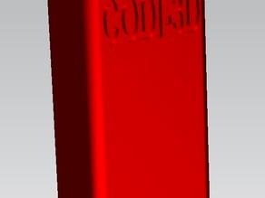 supporto modulare h= 50 mm per CNC morsetto modulare da tavola (d. 6mm.) rev.003 -