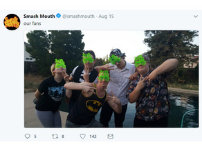 Mouth Eyes ft. on the Official Smash Mouth Twitter!