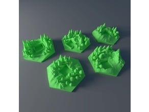 Custom forest tile set for Terraforming Mars - Forrest 1-5