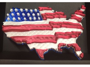 Waving 3D US Flag