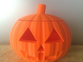 Customizable Jack O' Lantern with Removable Lid