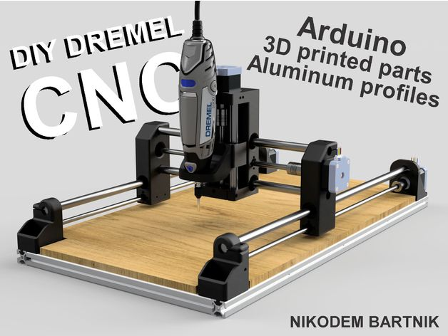 Diy Dremel Cnc 1 Design And Parts Arduino Aluminum Profiles 3d