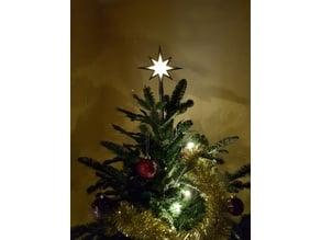 Shinning christmas tree star