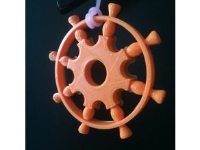 Ship Wheel Ornament - Eight spokes