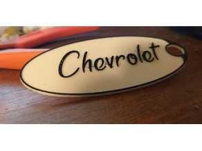 Old style Chevrolet Keyring