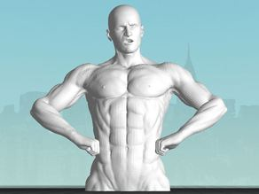 Male Bodybuilder 1 low poly