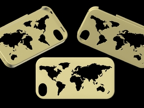 worldwide map iphone4 case