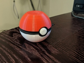 Vase-Mode Pokeball (Opens like a plastic Easter egg)
