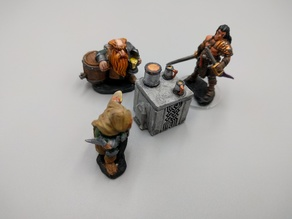 Dwarven Drinking Table - Dwarven AleWorks - 28mm
