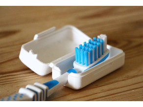 Compact toothbrush case (for traveling)