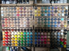 Laser Cut Paint Rack (Miniature Paints)