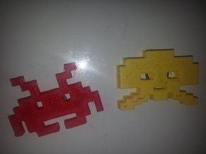 Yet another space invader fridge magnet thing