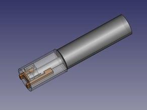 "100% printable 6.3 mm 1/4"" TRS jack socket"