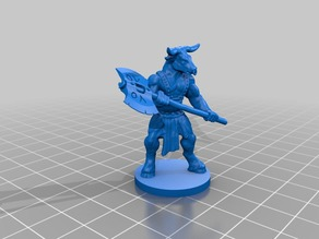 Minotaur with axe (with base)